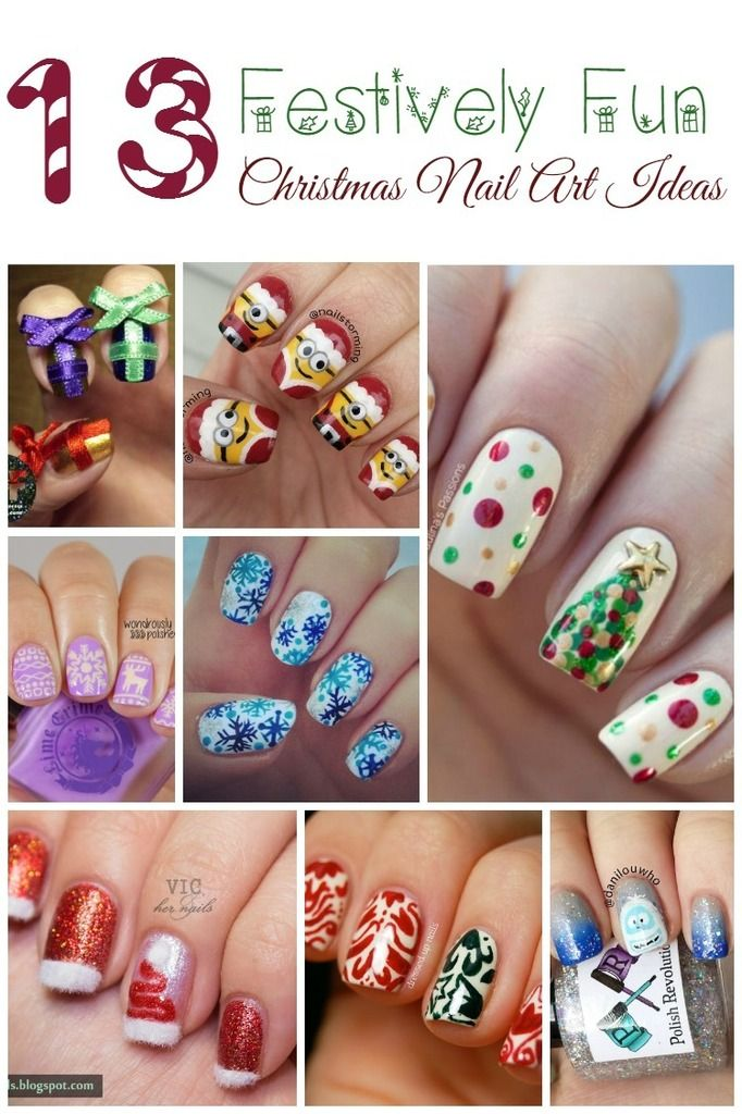 Festively Fun Christmas Nail Art Ideas | Manicure, Holidays and ...