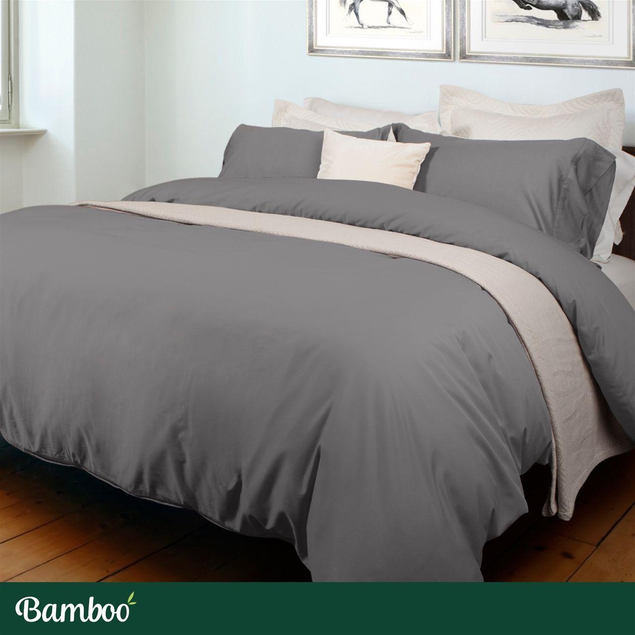 Bamboo Blend Duvet Cover Slate Qe Home Modern Style Bedding