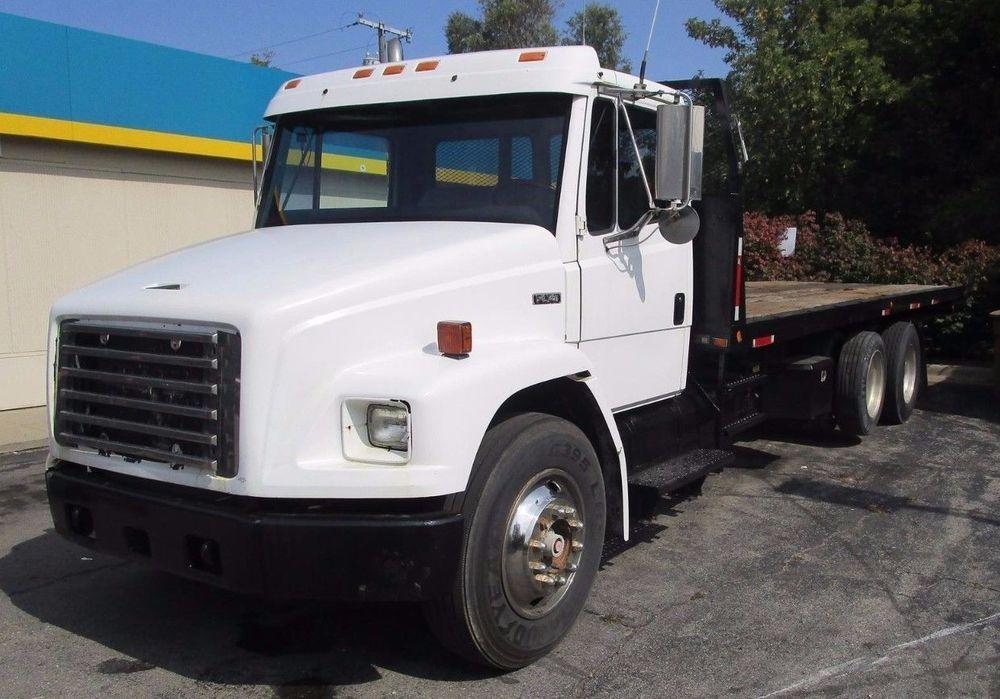 Genuine Freightliner Fl70 1995 Dual Rear Axle 26 Ft Rollback Truck Wrecker Freightliner Trucks Axle