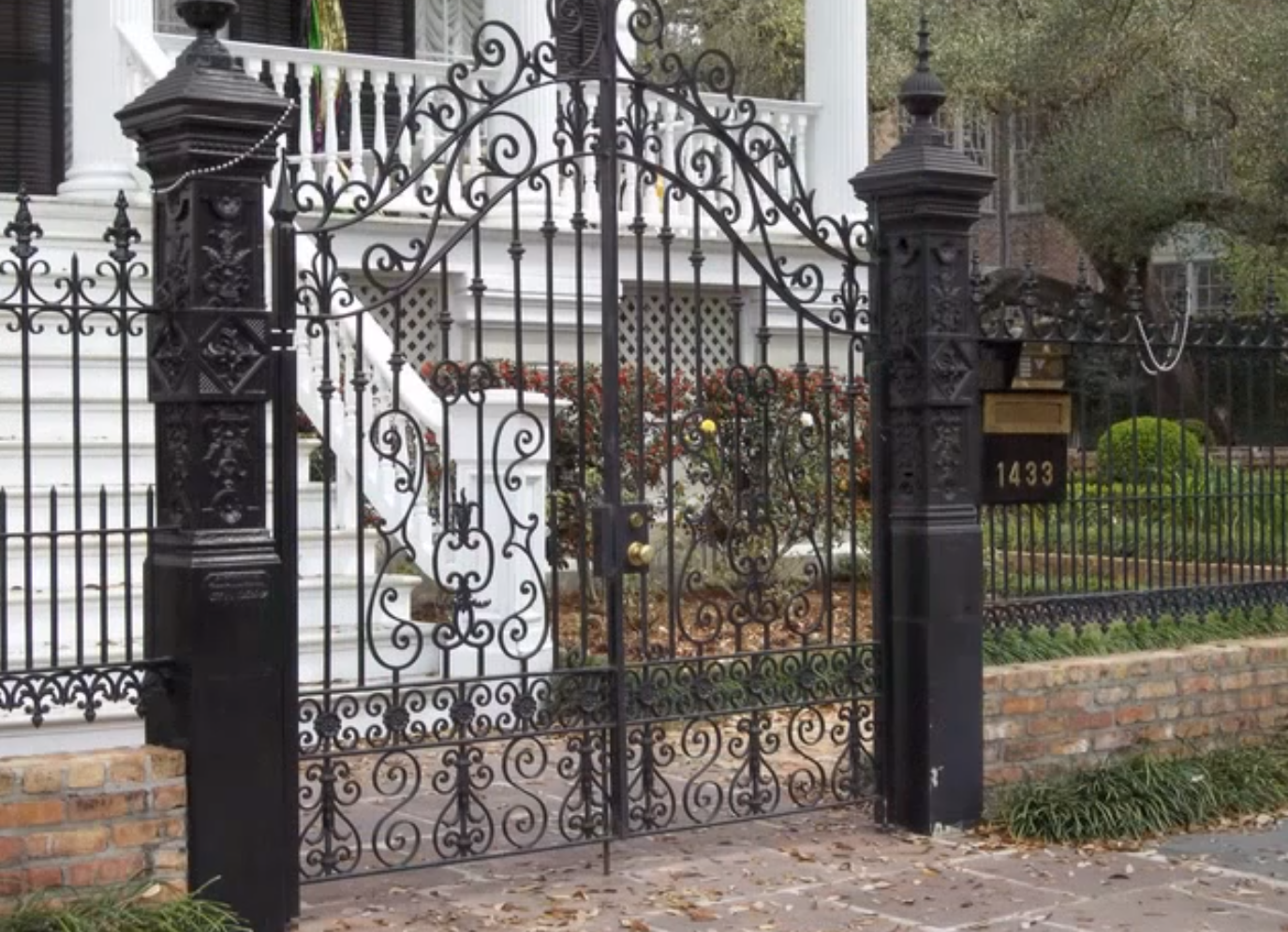 Ornamental wrought iron gates - New Orleans Interior Design Ideas Beautiful Ideas Wrought Iron Gates In New Orleans