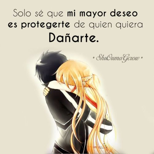 Anime frases anime frase sentimientos ShuOumaGcrow sword art online amor
