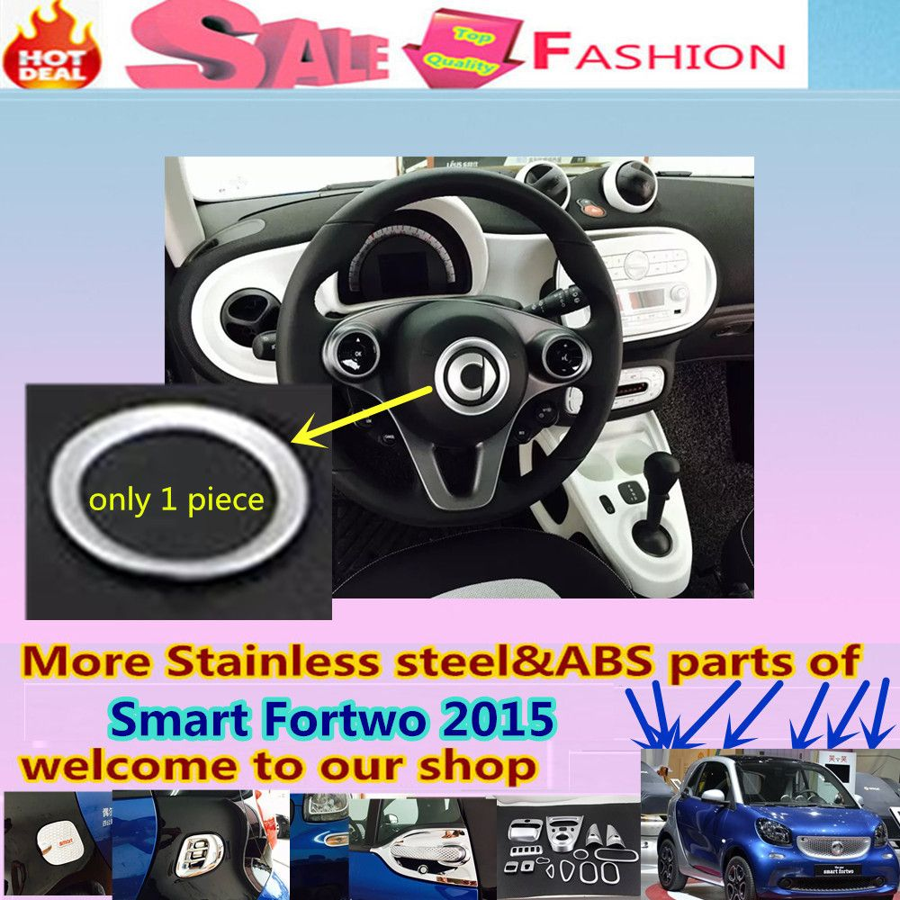 Free shipping for Smart Fortwo 2015 car detector stick styling cover ...