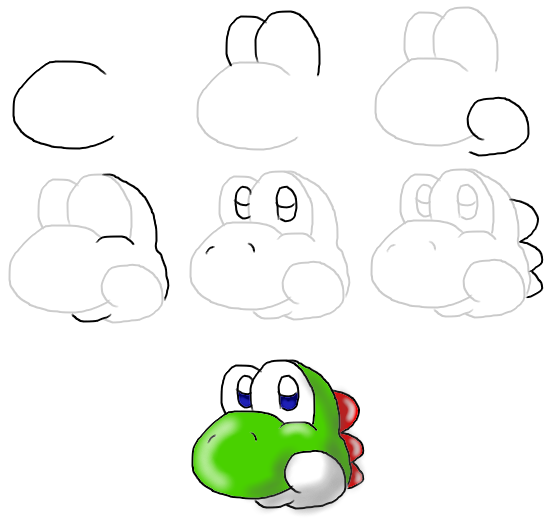 How To Draw Yoshis Head New By MeleeKirby On DeviantART