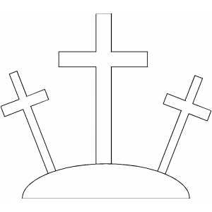 Three Crosses Printable Bible Coloring Pages Free To Download And