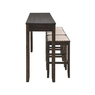 Super Rokane Rectangular Counter Height Dining Set Table And 3 Beatyapartments Chair Design Images Beatyapartmentscom