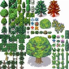 RPG Maker MV Tree Tile Set | Pixel art in 2019 | Rpg maker, Pixel