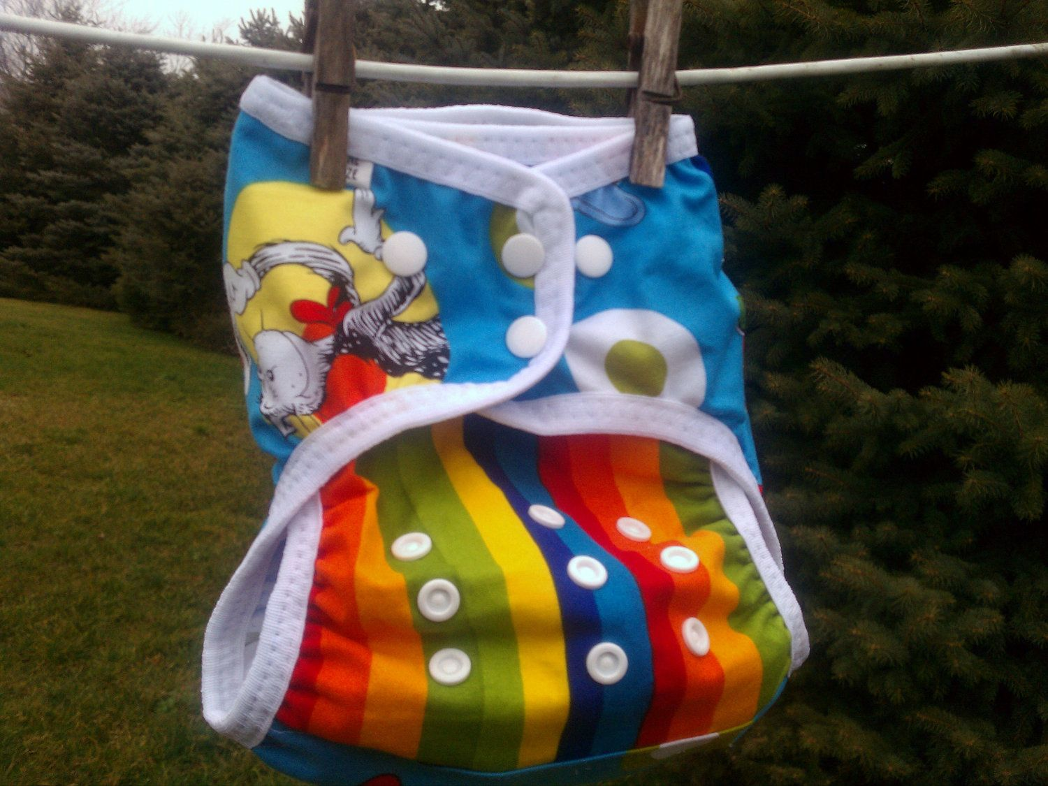 cloth diaper cover storybook friends one size by ZooKiecrafts