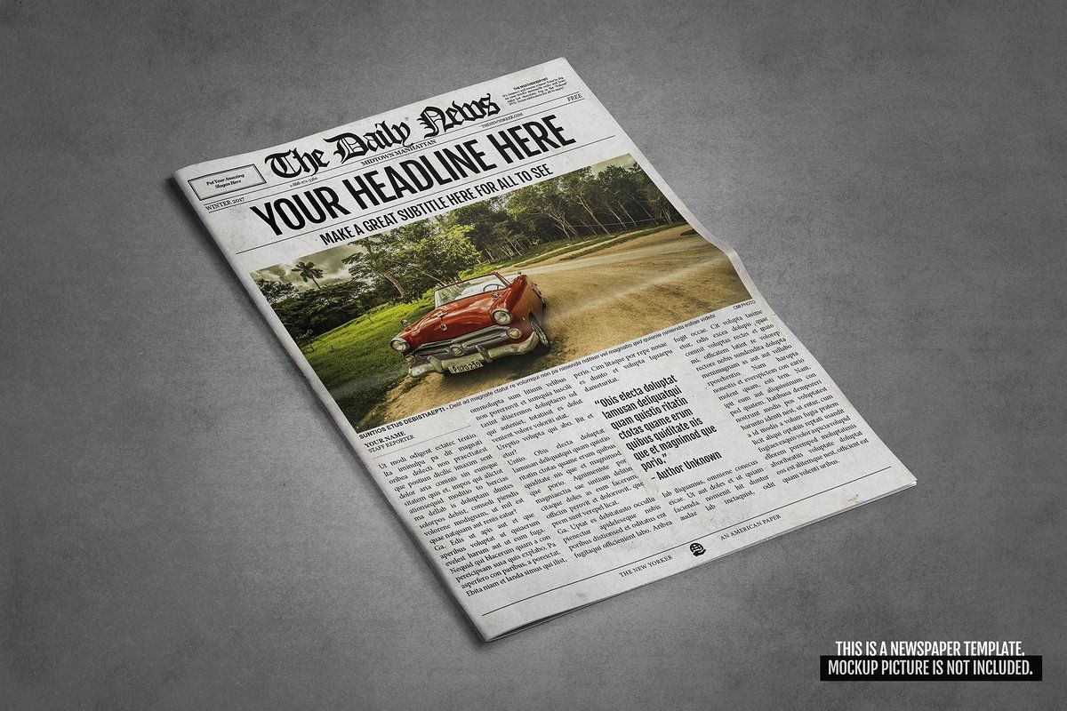 Ad 2x1 Page Newspaper Template Indesign By Newspaper
