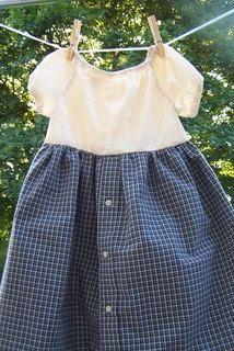 Cute spin on men's shirt dress!