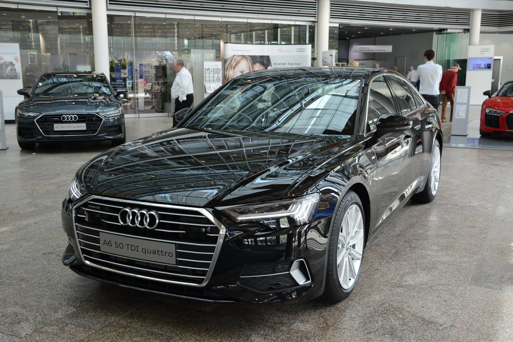 New Audi A6 In Mythos Black On Display At Audi Forum Audi A6 Audi Black