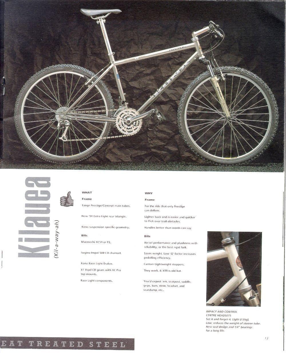 Kona Kilauea 1994 Mtbr Com Vintage Mountain Bike Kona Bikes Retro Bicycle