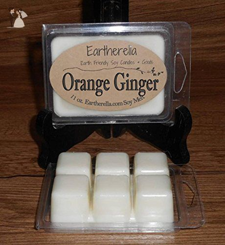 ORANGE GINGER Natural Soy Wax break-apart tart melts, 2.7 oz., present gift for friend, mother, wife, girlfriend, her - Venue and reception decor (*Amazon Partner-Link)