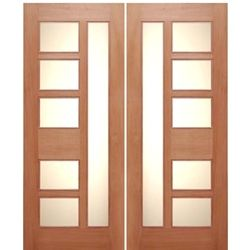 AAW Doors Urban-2 Contemporary Mahogany Double Entry Doors with Dual Insualted Matte Glass at  sc 1 st  Pinterest & AAW Doors Urban-2 Contemporary Mahogany Double Entry Doors with ... pezcame.com