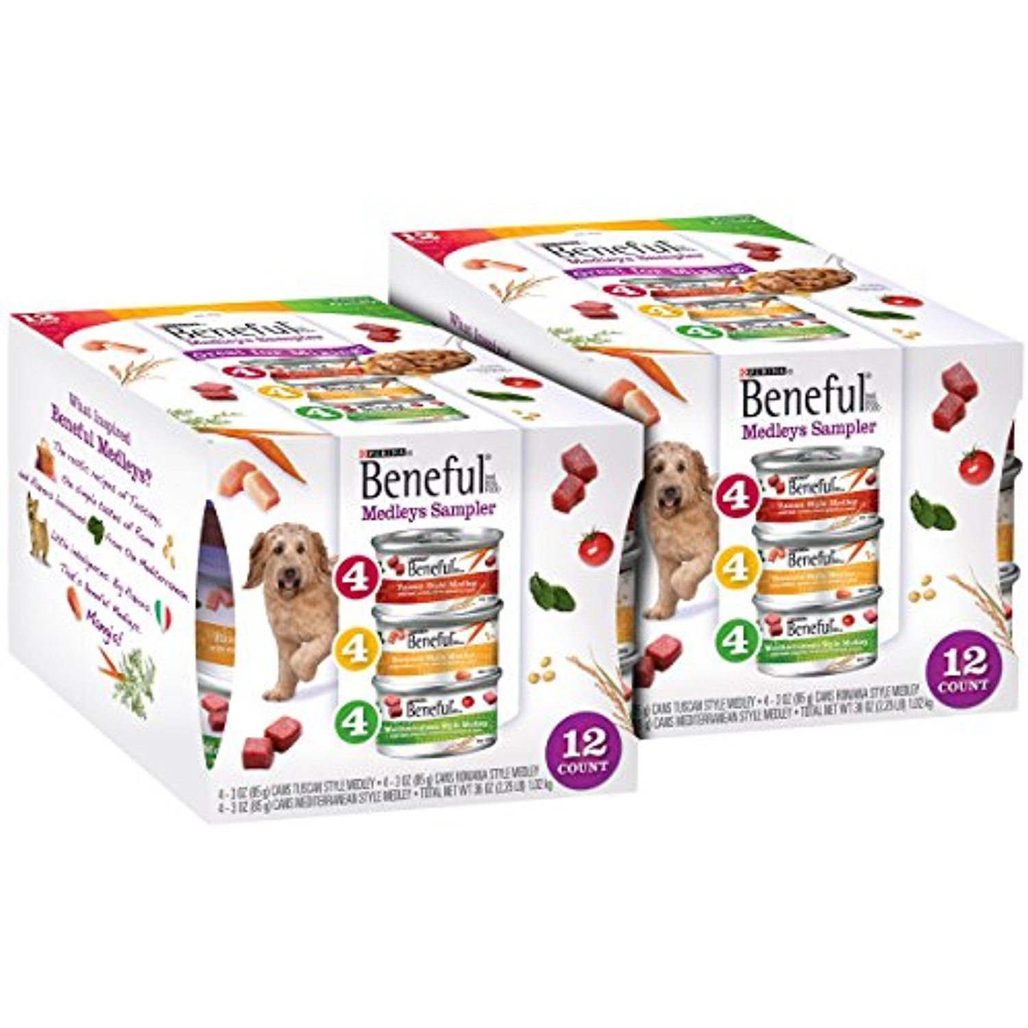 Purina Beneful Medleys Variety Pack Dog Food 12 3 Oz Cans The