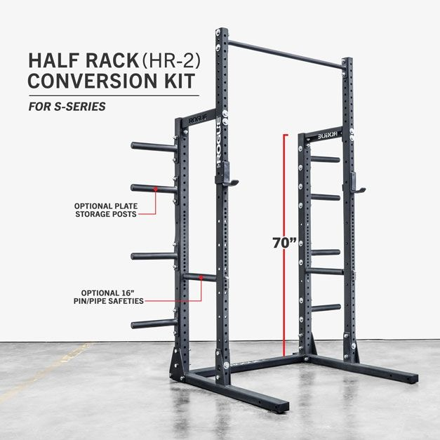 Hr half rack conversion kit rogue fitness