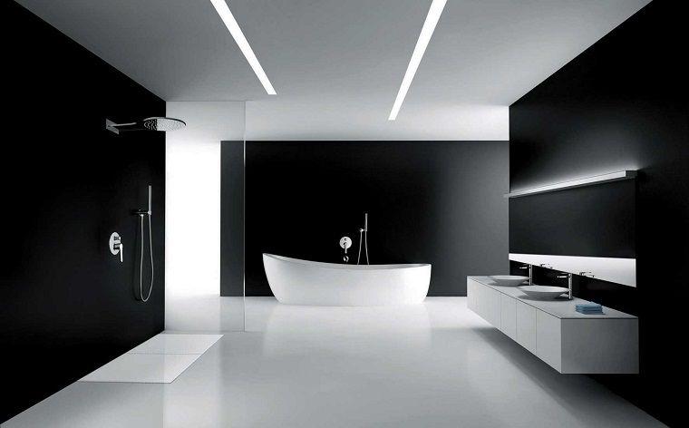 Bagno Stile Minimalista : Bagno da sogno stile minimal appartamento black and white nel