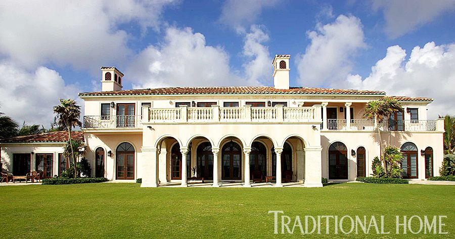 Palm Beach Home with Colorful, Lavish Interiors Traditional Home