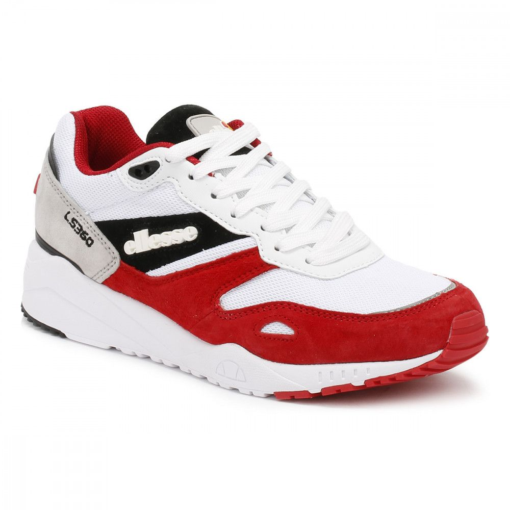c582b836a Ellesse Mens White/Red/Grey LS360 Suede Trainers in 2019 | shoes ...