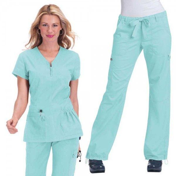 24650b744c5 Koi Stretch Set in Cool Blue consist of Koi Mackenzie scrub top and Koi  Stretch Lindsey scrub trousers, £59.99 #setscrubs #scrubs #uniforms  #nursescrub ...