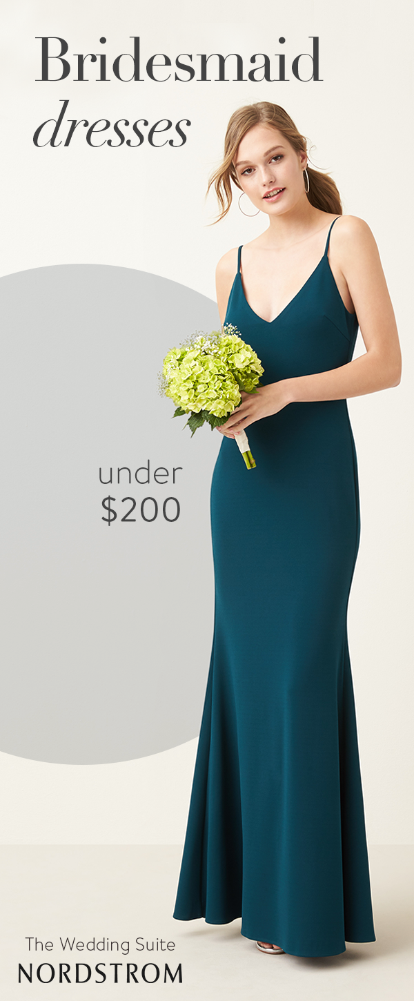 16836d3905b This minimalist trumpet dress lets you glam things up or keep the look  simply elegant. Shop all things bridal at the Nordstrom Wedding Suite.
