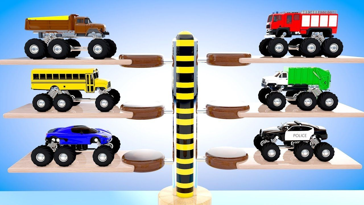 Colors For Children To Learn With Multi Level Parking Trucks Kids Ed