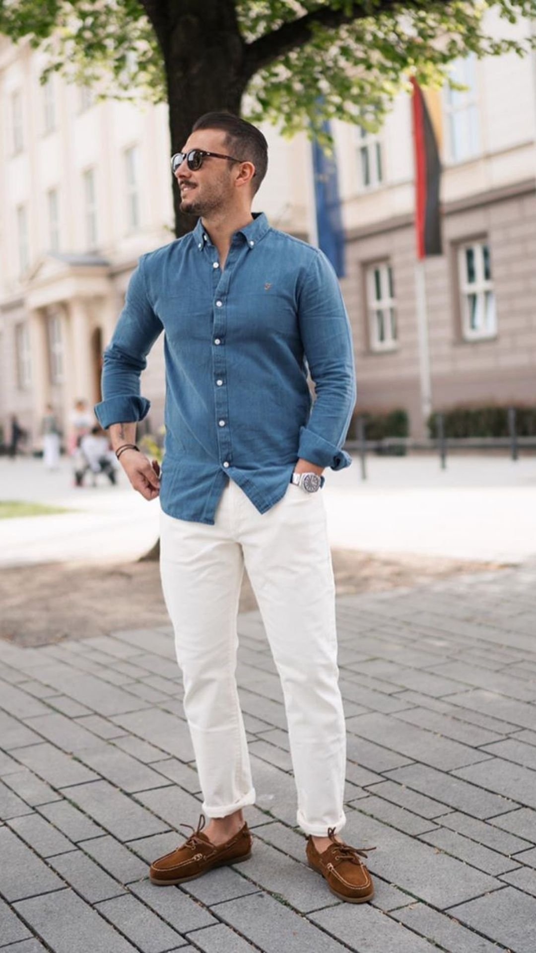Chinos + Casual Shirt Outfits For Men #mensfashion
