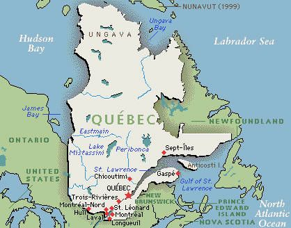 Quebec On Map Of Canada.Why Does French In Quebec Sound So Weird Frenchly Quebec