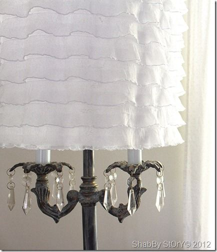 Hobby Lobby Lamp Shades Fascinating Diy $350 Of Hobby Lobby Ruffled Fabricnew Shade Shabby Story's Design Ideas
