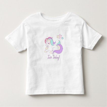 Unicorn two today t shirt unicorn two today t shirt baby birthday sweet gift idea special customize personalize negle Image collections