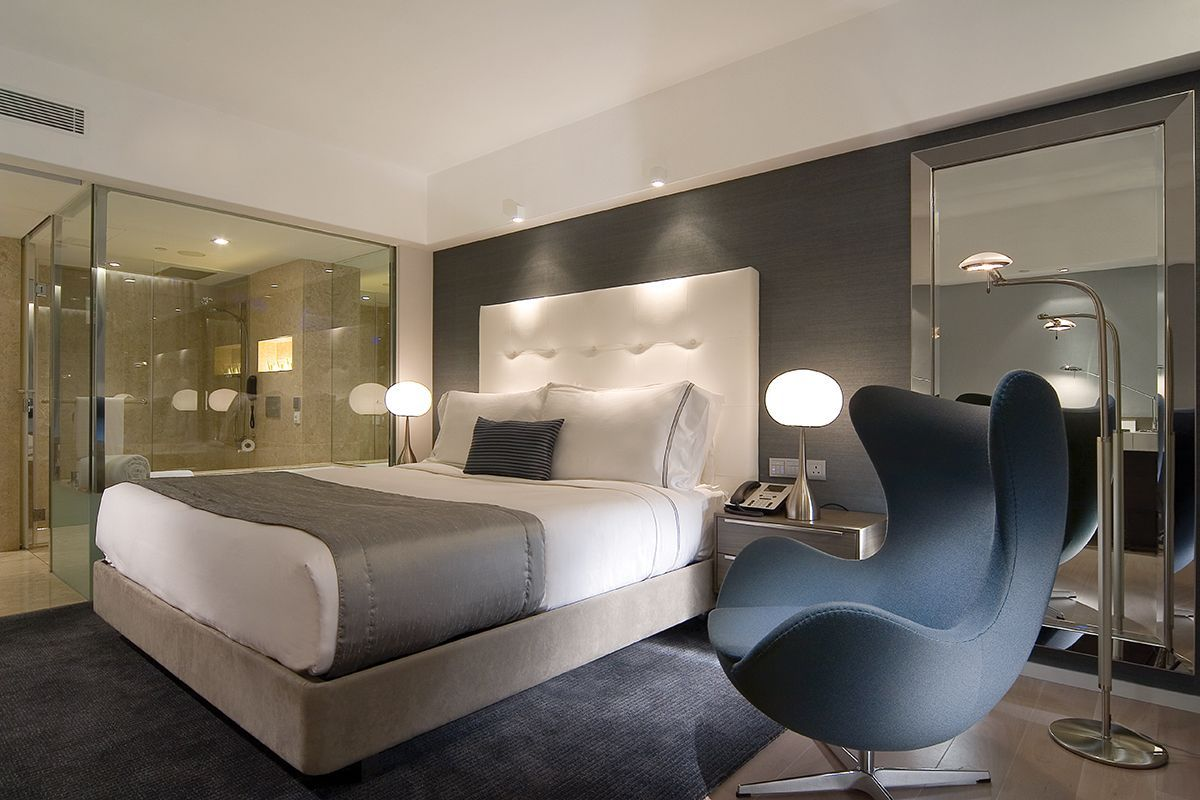the Mira Hotels bedroom interior design photo