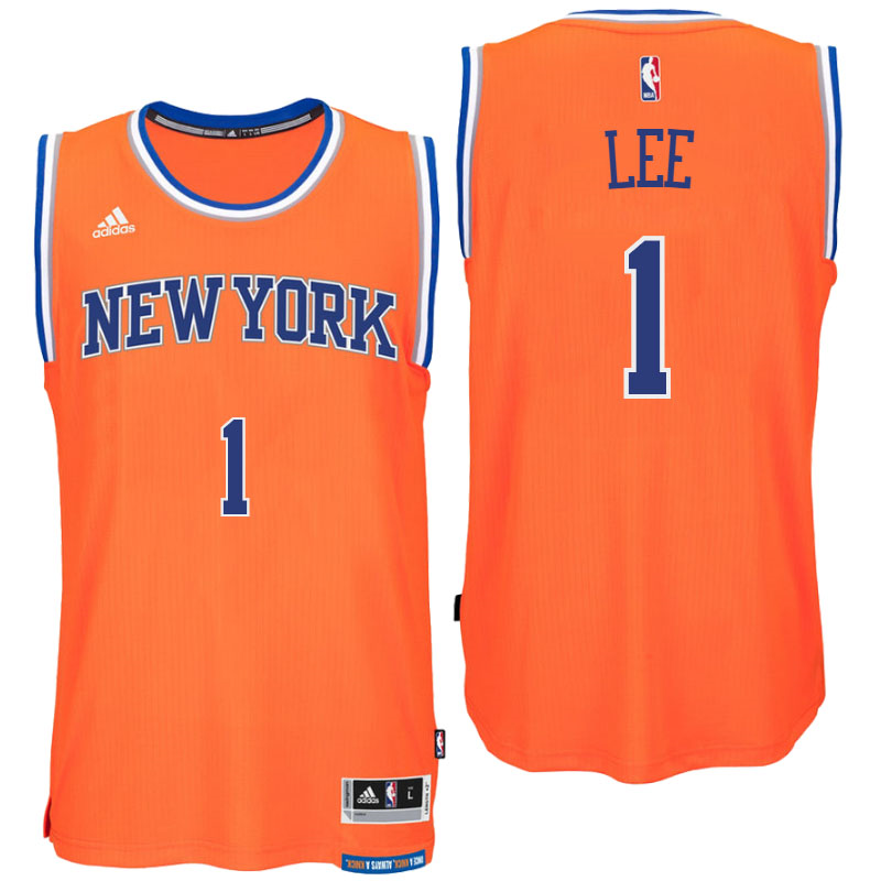 5a931cce7 New York Knicks  1 Courtney Lee Alternate Orange New Swingman Jersey ...
