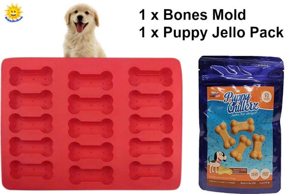 Happybotham Dog Bones Mold Treat Kit Food Grade Silicone Baking
