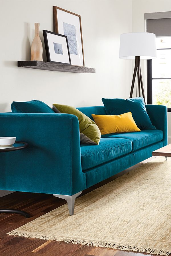 Add A Pop Of Color To Your Living Room With Our Sterling Sofa Teal Couch Living Room Teal Sofa Living Room Living Room Turquoise