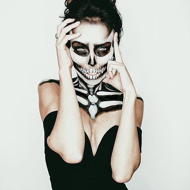 60 skræmmende cool skelet-makeup-ideer at prøve på-2112