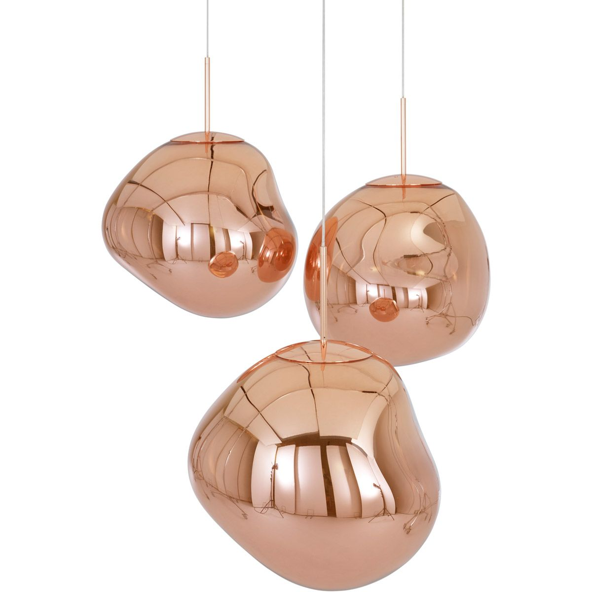 Melt Mini Pendant Copper In 2020 Tom Dixon Melt Pendant Lighting Lounge Copper Lighting