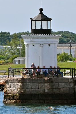 Maine Lighthouses and Beyond: Portland Breakwater (Bug) Lighthouse - August 2013.  To enjoy my blog on lighthouses, flowers, and wildlife, tap on the photo.
