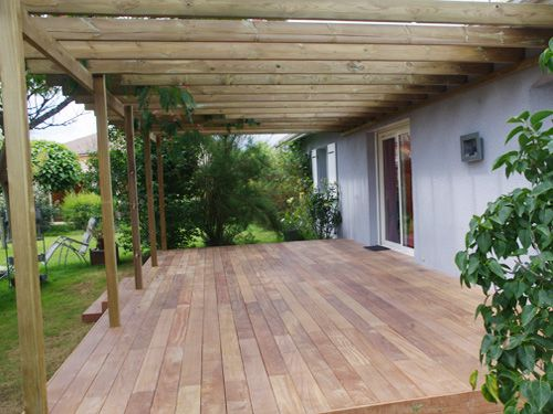 pergolas en bois et terrasse bois exotique gironde. Black Bedroom Furniture Sets. Home Design Ideas