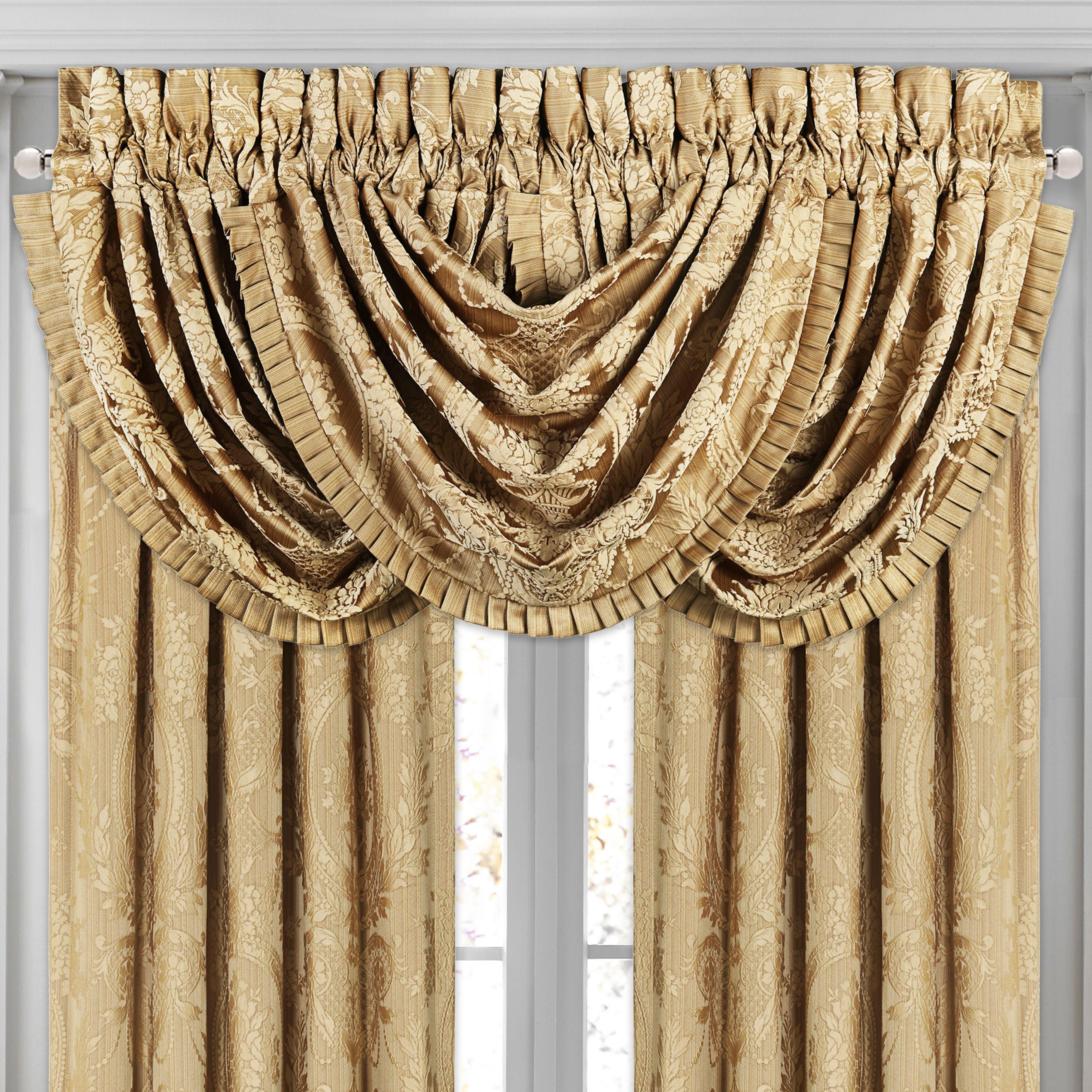 J Queen New York Napoleon Gold Window Waterfall Valance Gold Waterfall Valance Valance At Home Store