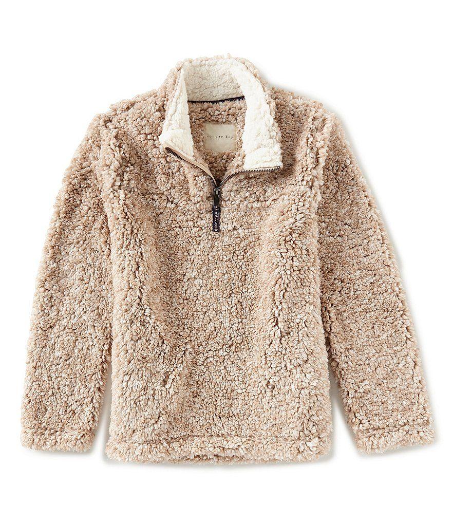 947f8b91b Copper Key Big Girls 7-16 Faux Fur Sherpa Long Sleeve Cozy Pullover ...