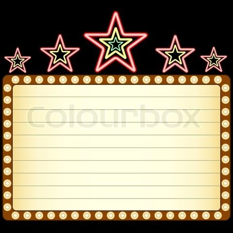 Buy The Royalty Free Stock Vector Image Blank Movie Theater Or Casino Marquee With Neon Stars Online All Rights Included High Resolution F