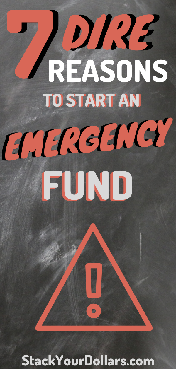 An emergency fund is so important to prepare for any type of unexpected life changes. Do you have a plan in place if you get laid of work tomorrow? Can you handle a sudden $500 dollar expense without going into debt? Learn how to build an emergency fund savings plan. How much money should be in your emergency fund. Where to keep that emergency savings. And easy tips to get started as soon as today! Let money be one less thing to cause you stress! #StackYourDollars #EmergencyFund #FrugalLife