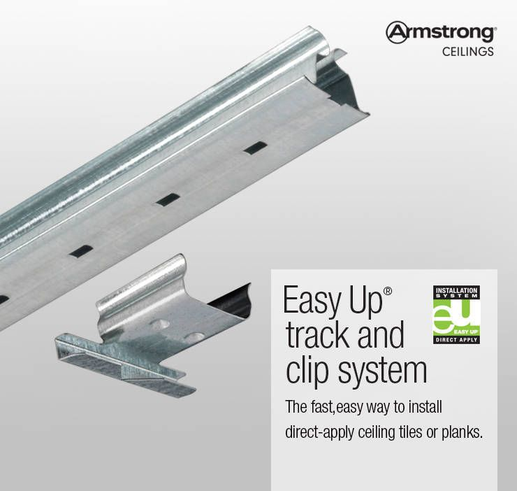 Shop Armstrong Ceilings Easy Up 20 Pack 96 In Galvanized Steel Ceiling Grid Track At Lowes Com Armstrong Ceiling Ceiling Grid Ceiling