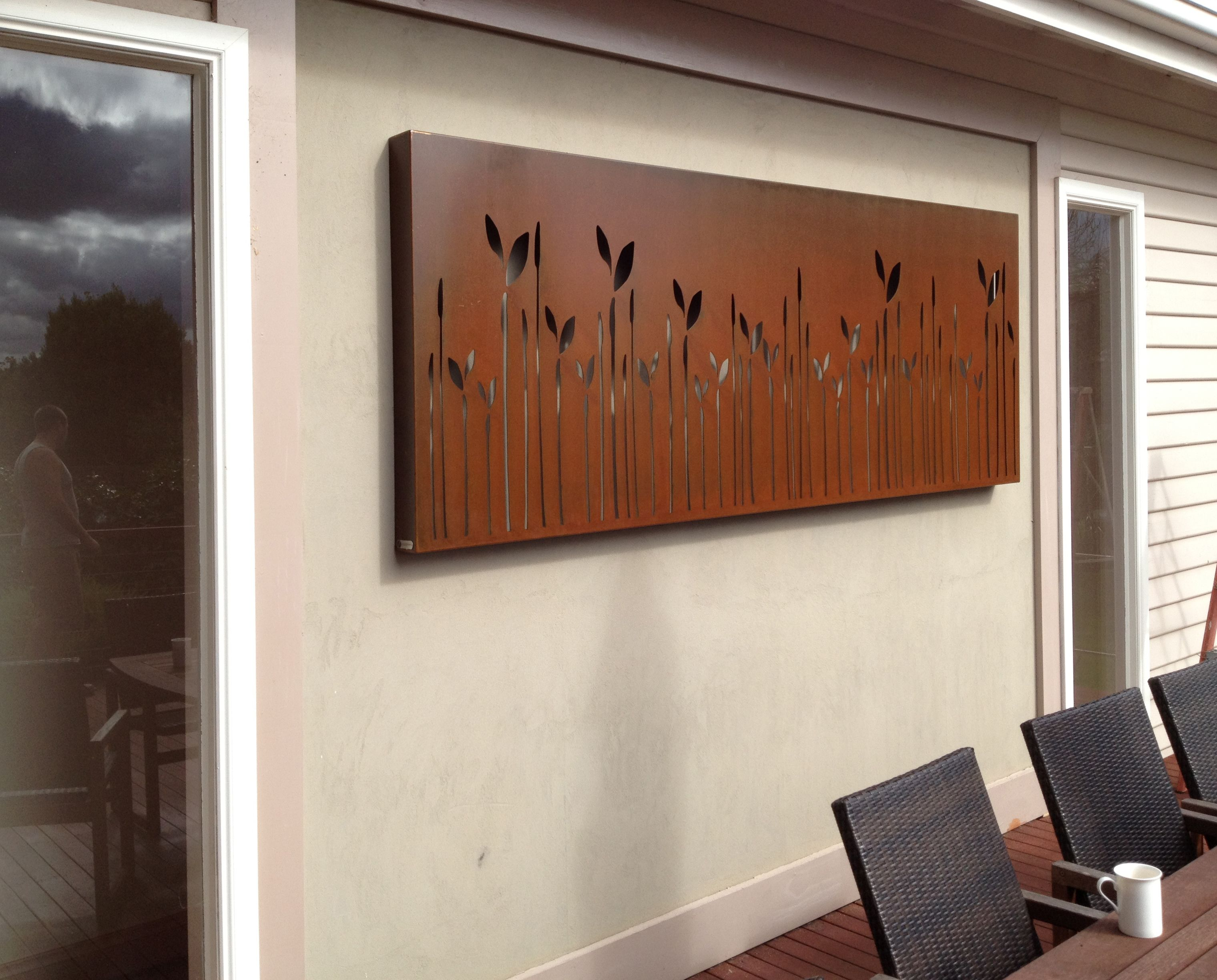 Wood And Metal Wall Art laser cut metal wall art for outdoor living areaswww
