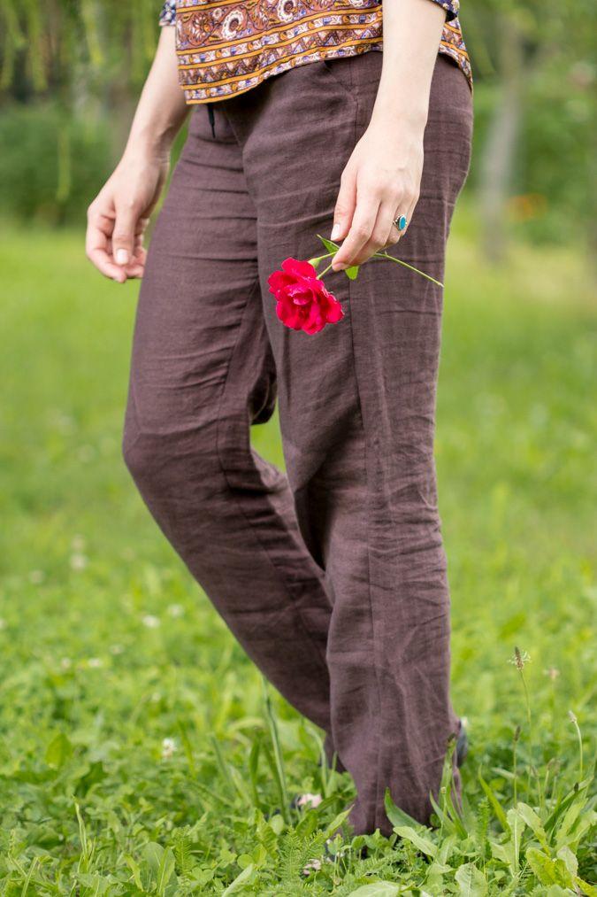 Genähte Leinenhose für Damen | Pinterest | Lässig elegant ...