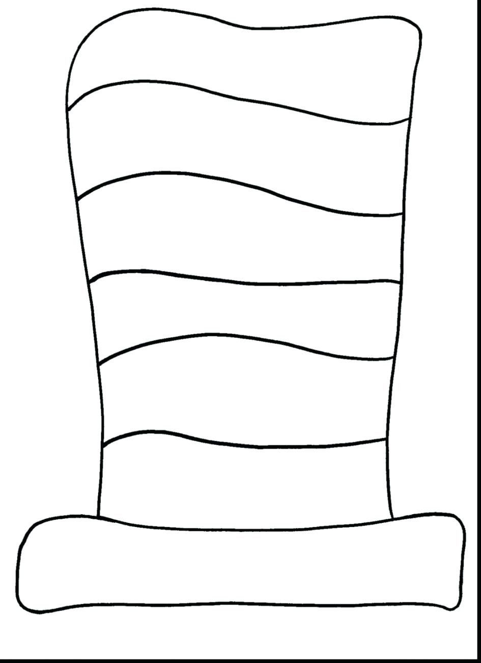 Cat In The Hat Coloring Pages Inspirational Stylish Decoration Cat