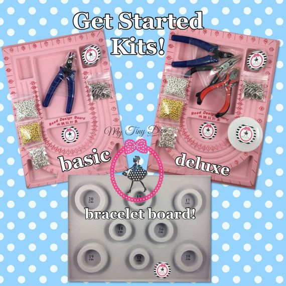 Chunky Bubblegum Bead Hardware Wire, Spacers, Toggles, Crimp Tube Kit