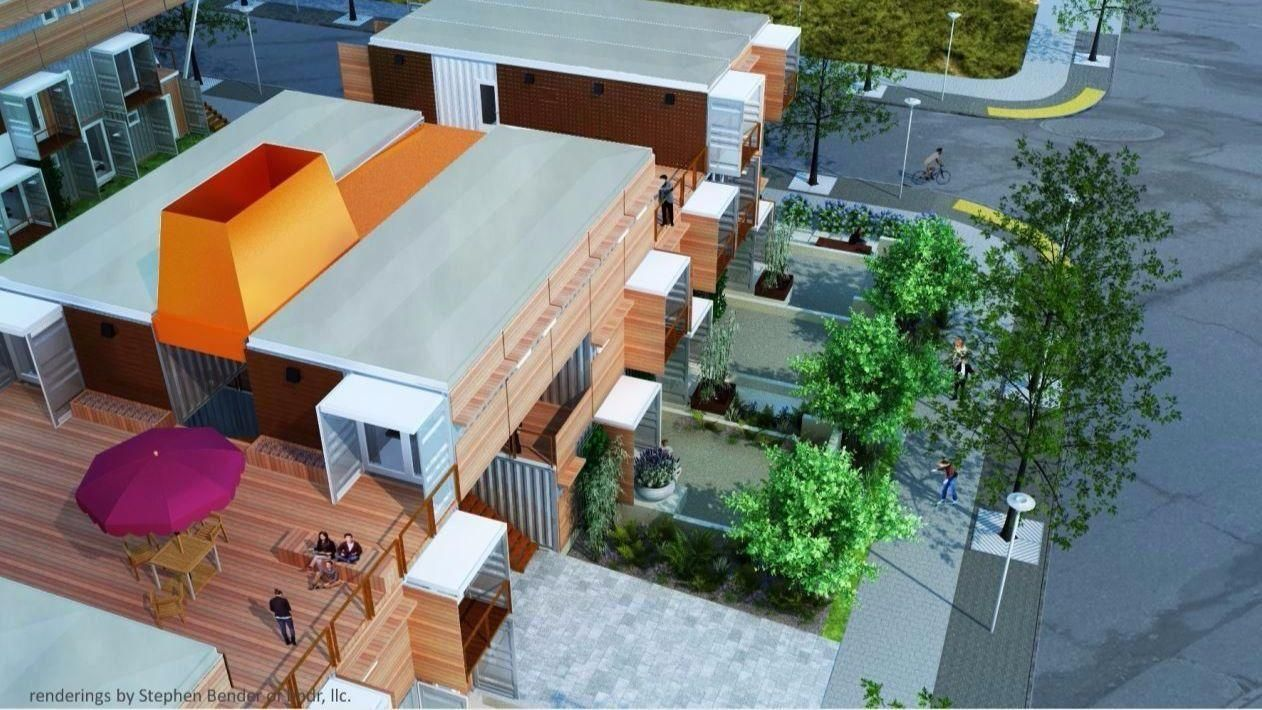 Shipping containers are being repurposed for apartments ...