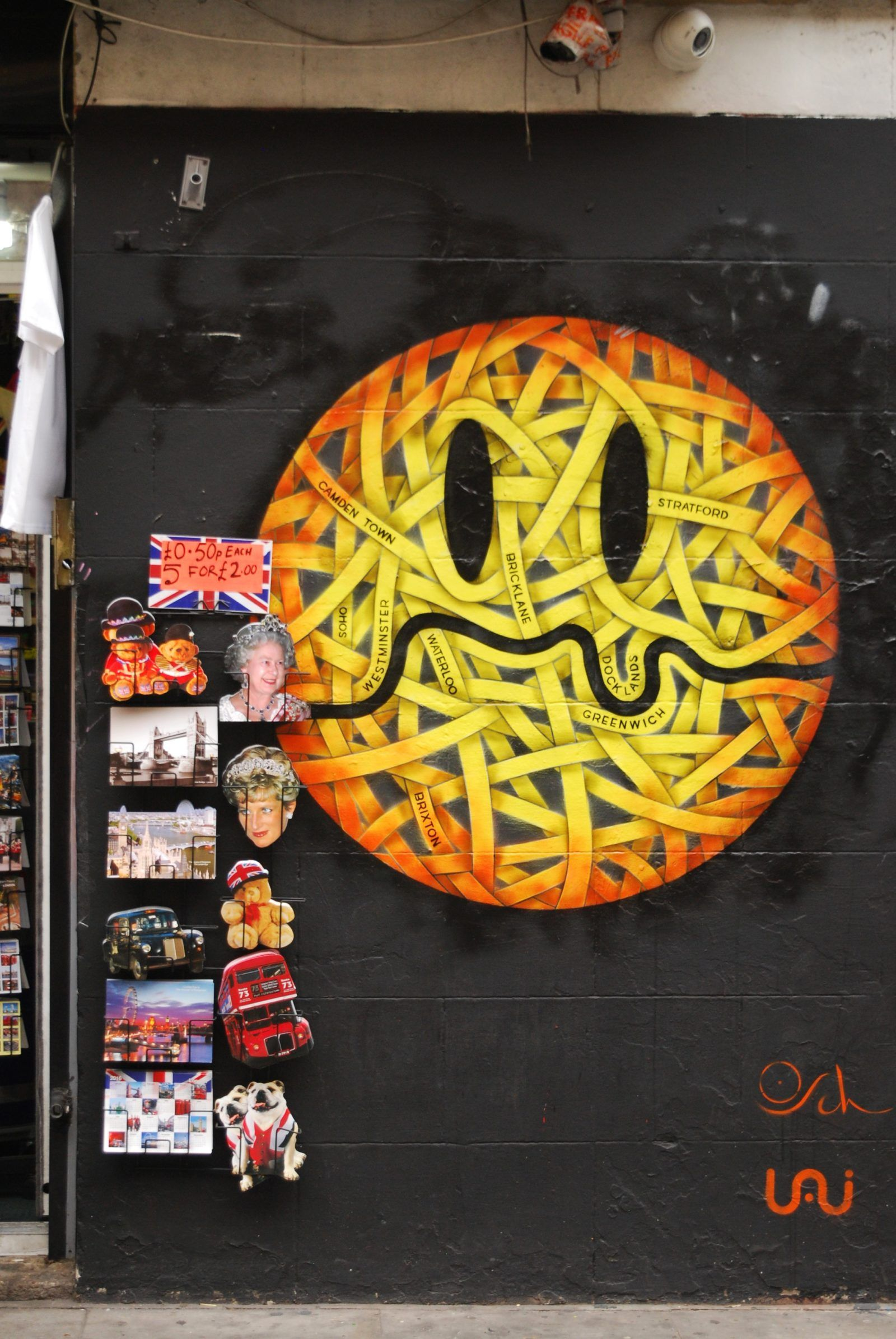London Map Shoreditch Area: London: Shoreditch Street Art Tour