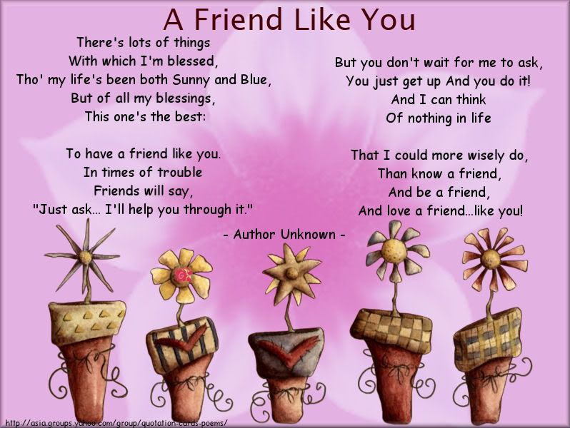 friend poems | gcs_friendship-Unknown-AFriendLikeY.jpg picture by ...