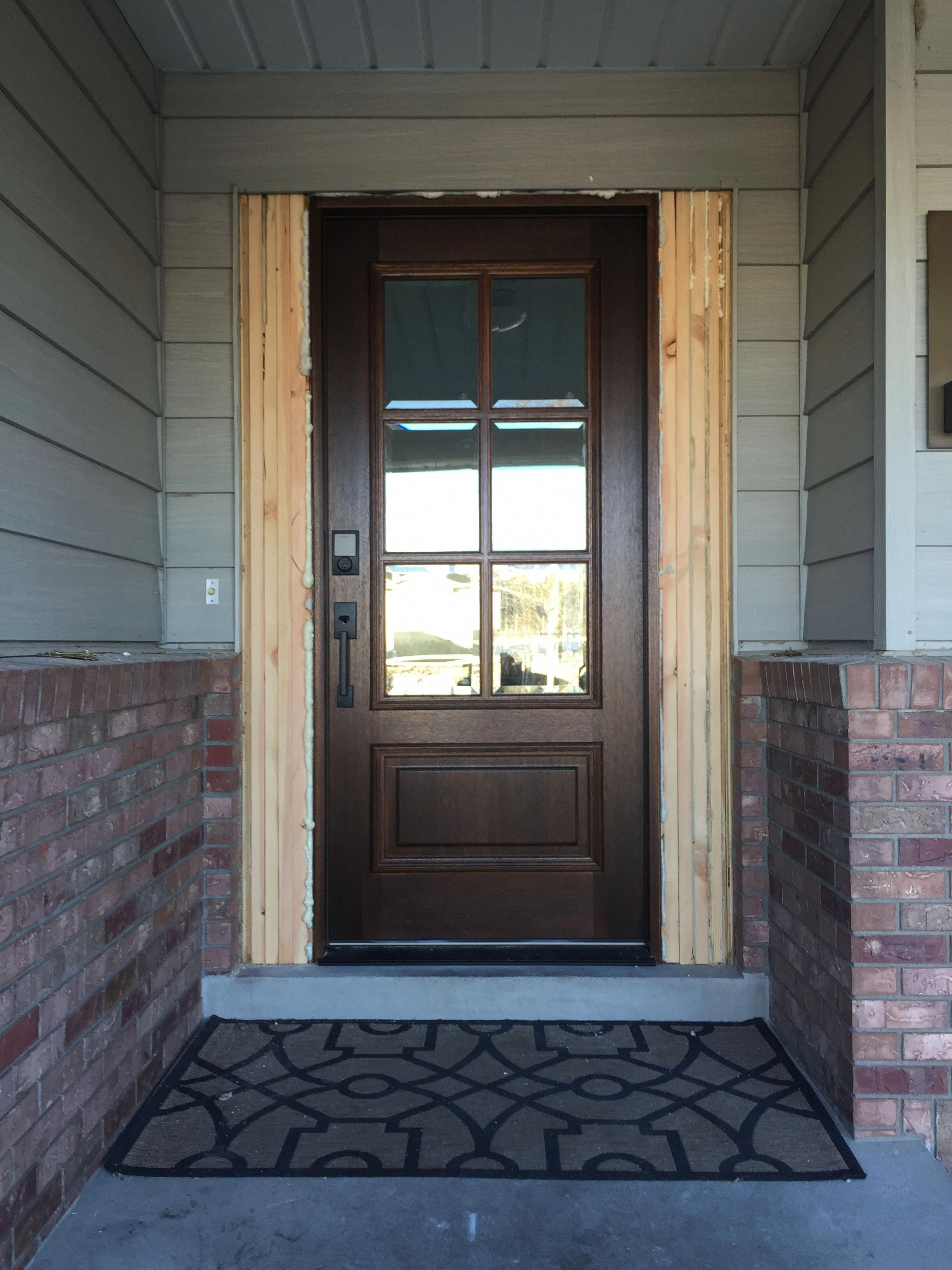 Before And After Our New Front Door Frontdoor Garage Door Styles Garage Door Design Exterior Front Doors